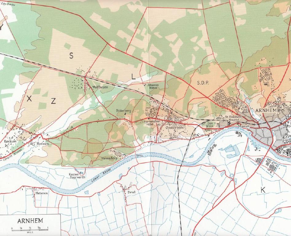 Arnhem Map (from Victory in the West Volume 2 - Major L. F. Ellis and James Butler)