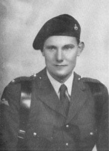Phot of Major David Wallis in uniform