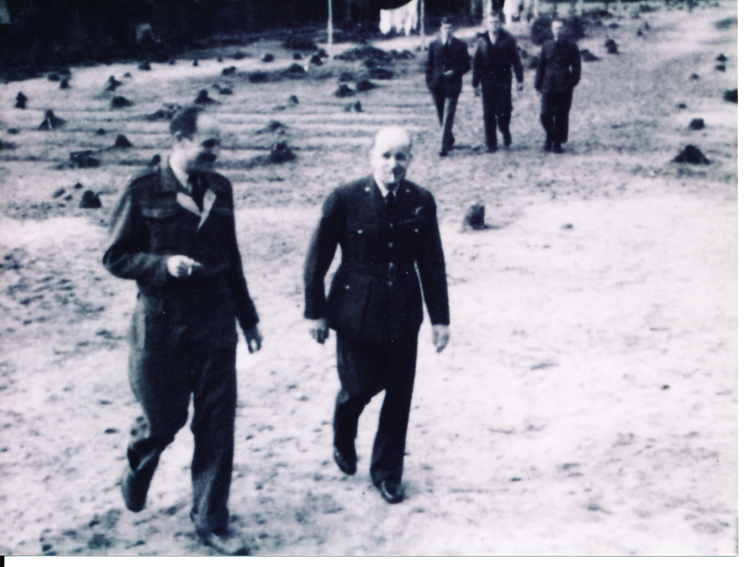 Pop Green with Major Johnnie Dodge in Sagan POW camp, circa1943