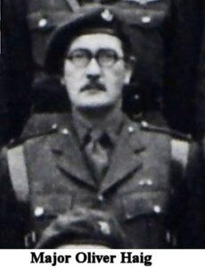 Major Haig, Oxfordshire and Buckinghamshire Light Infantry